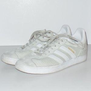 Adidas Gray Gazelle Mesh Sneaker Suede 9